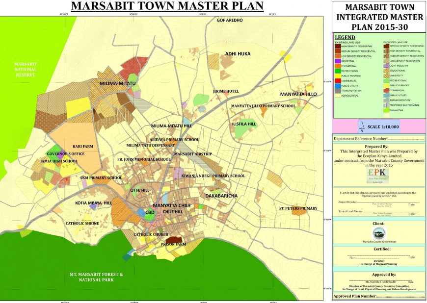The Integrated Master Plan for Marsabit Town  2015-2030 master plan
